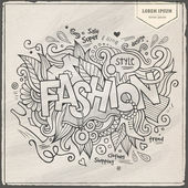 Fashion hand lettering and doodles elements — Stock Vector