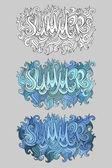 Summer hand lettering — Stock Vector