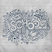 School hand lettering and doodles elements — Stock Vector