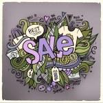 Sale cartoon elements background — Stock Vector #49638183