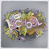 School cartoon hand lettering — Stock Vector