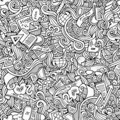 Hand gezeichnete schule nahtlose muster — Stockvektor