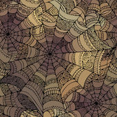 Vector decorative spider web pattern — Stock Vector