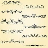 Ornamental design elements — Stock Vector