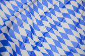Bavarian Flag in the Wind — Stock Photo