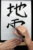 The Art of Calligraphy — 图库照片