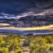 Sunset over Moab - from La Sale Mountains — Stock Photo