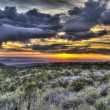 Stock Photo: Sunset over Moab - from LSale Mountains