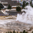 Old Feithful Geyser Eruption — Stock Photo