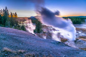 Norris Geyser Basin after Sunset — Stock Photo