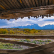 Cunningham Cabin Grand Teton National Park — Stock Photo