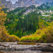Beautiful Autumn near Cascade Creek - Grand Teton National Park — Stock Photo