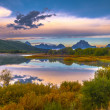 Grand Teton Reflection at Sunrise — Stock Photo