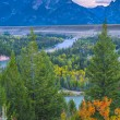 Snake River Overlook - Grand Teton National Park — Stock Photo