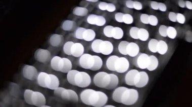 Backlit keyboard — Stock Video
