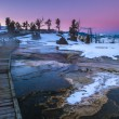 Yellowstone Winter Landscape at Sunset — Stock Photo #40177363