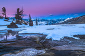 Yellowstone Winter Landscape at Sunset — Stock Photo