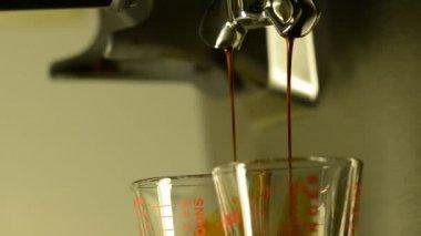 Double Espresso Extraction — Stock Video