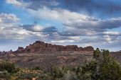 Arches National with cloudy sky — Stock Photo