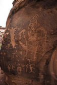 Indian Petroglyphs on Birthing Rock — Stock Photo
