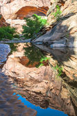 Pool of water - Hunter Canyon Hiking Trail Moab Utah — Stock Photo