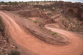 Mineral Bottom Switchbacks Dirt Road — Photo