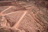 Mineral Bottom Switchbacks Dirt Road — Stock fotografie
