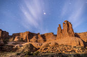 Arches National Park at Night — Stock Photo