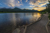 Lilly Lake at Sunset - Colorado — Stock Photo