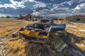 Abandoned Car Ghost Town  — Stock Photo