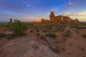 Turret Arch at sunrise — Stock Photo