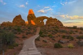 Trail to Turret Arch  — Stock Photo