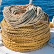 Coiled natural rope — Stock Photo