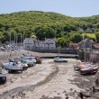 View of Porlock Weir and Harbour in Devon UK - Stock Photo