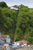 Lynton and Lynmouth Railway view of hillside — Stock Photo