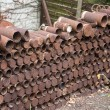 Stock Photo: Rusting First World War Artillery Shell Cases