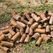 Rusting shell cases from WWI — Stock Photo