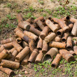 Stock Photo: Rusting shell cases from WWI