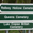 Stock Photo: Direction sign for Commonwealth War Graves