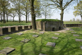 German war cemetery of Langemark — Stock Photo