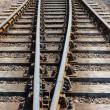 Stock Photo: Section of parallel rail track.