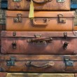 Stock Photo: Old style suitcases ready for loading