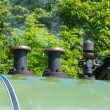 Stock Photo: Steam train engine regulator