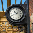 Vintage railway station wall mounted clock. — Stok fotoğraf