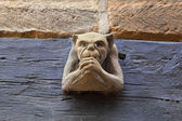 Gargoyle wall mounted. — Stock Photo