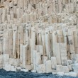 Stock Photo: Basalt rock columns at ReynisfjarIceland