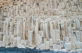 Basalt rock columns at Reynisfjara Iceland — Stock Photo