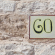House number sixty as a square tile — Stock Photo