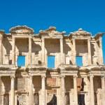 fasad celsius bibliotek i Efesos, Turkiet — Stockfoto