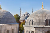 Window view of the Blue Mosque from Hagia Sophia — Stock Photo